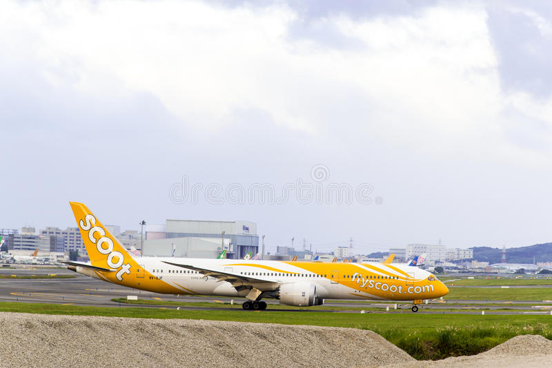Τρέξτε το Boeing 787 στοκ εικόνα