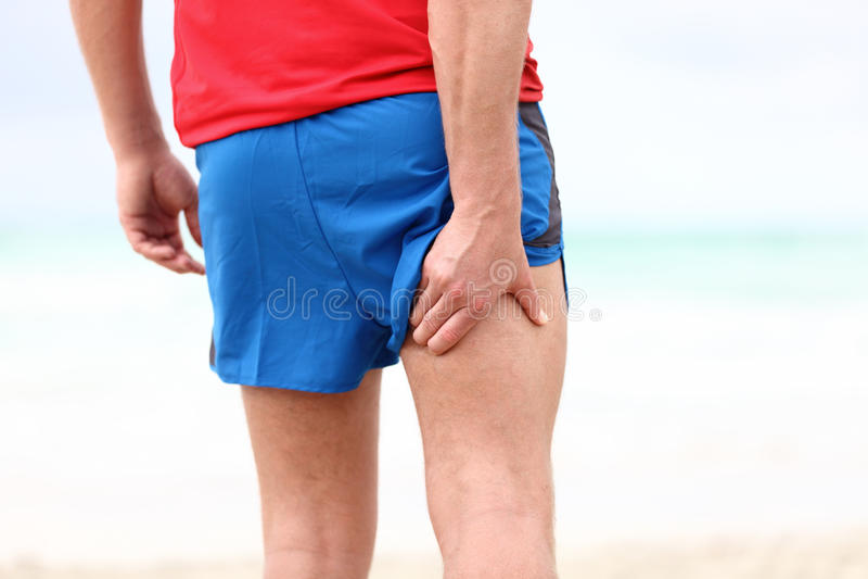τρέχοντας αθλητισμός τραυματισμών στοκ εικόνα με δικαίωμα ελεύθερης χρήσης