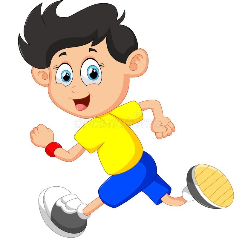 Τρέχοντας απεικόνιση αγοριών διανυσματική απεικόνιση