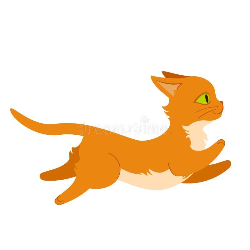 Τρέχοντας απεικόνιση γατών στοκ εικόνες