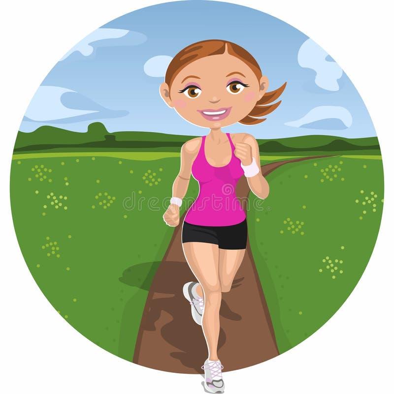 τρέχοντας γυναίκα απεικόνιση αποθεμάτων