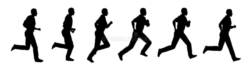τρέχοντας διάνυσμα ατόμων διανυσματική απεικόνιση