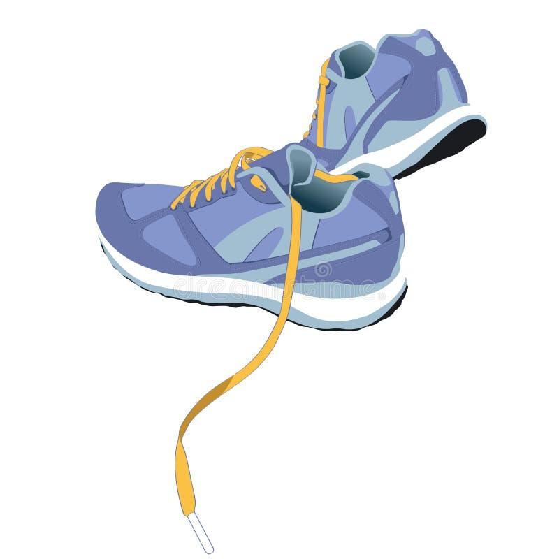 Τρέχοντας διάνυσμα παπουτσιών ιχνών απεικόνιση αποθεμάτων