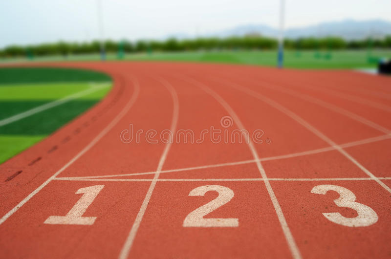 τρέχοντας διαδρομή στοκ εικόνα