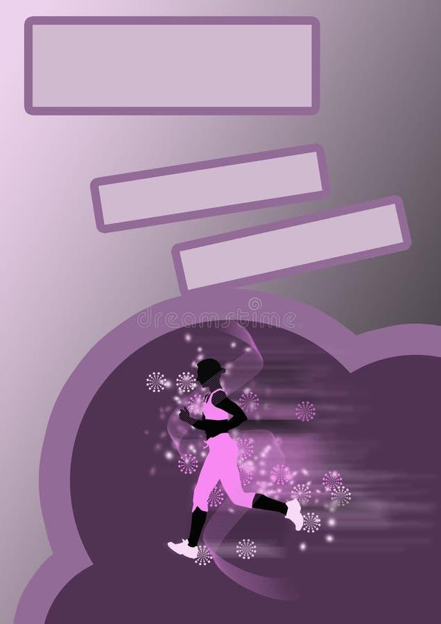 τρέχοντας νεολαίες γυναικών ανασκόπησης απεικόνιση αποθεμάτων