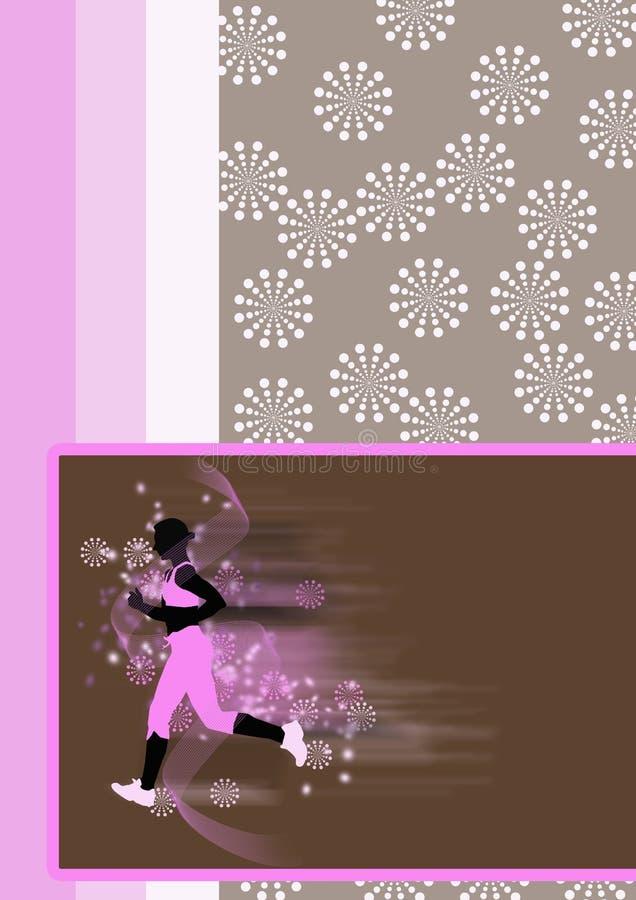 τρέχοντας νεολαίες γυναικών ανασκόπησης διανυσματική απεικόνιση