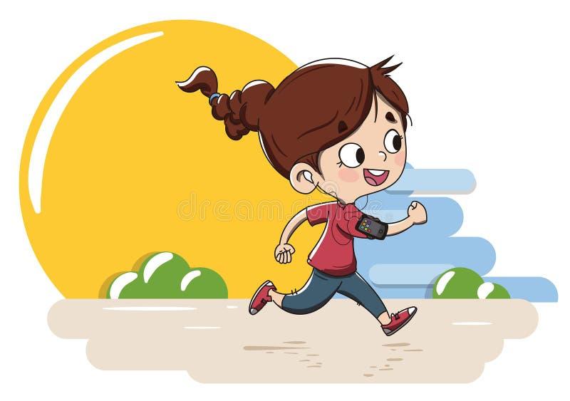 τρέχοντας νεολαίες κορ&io ελεύθερη απεικόνιση δικαιώματος
