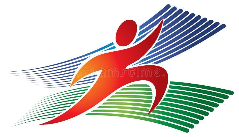 Τρέχοντας λογότυπο Jogging ελεύθερη απεικόνιση δικαιώματος
