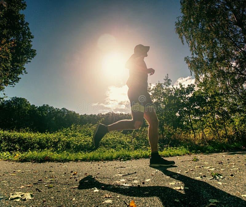 Τρέχοντας πάγωμα αθλητικών τύπων μέσα στη γρήγορη στιγμή μπροστά από τη κάμερα στοκ εικόνα με δικαίωμα ελεύθερης χρήσης
