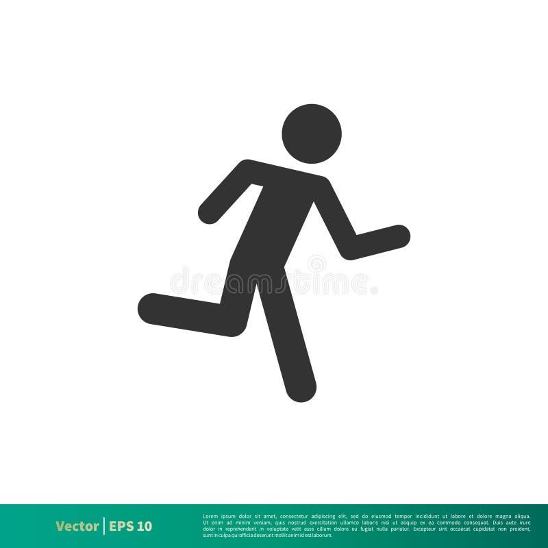 Τρέχοντας ραβδιών ατόμων σχέδιο απεικόνισης προτύπων λογότυπων εικονιδίων διανυσματικό r απεικόνιση αποθεμάτων
