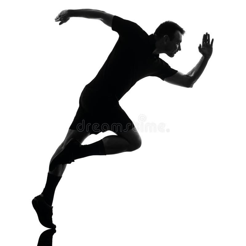 Τρέχοντας σκιαγραφία δρομέων ατόμων στοκ εικόνα