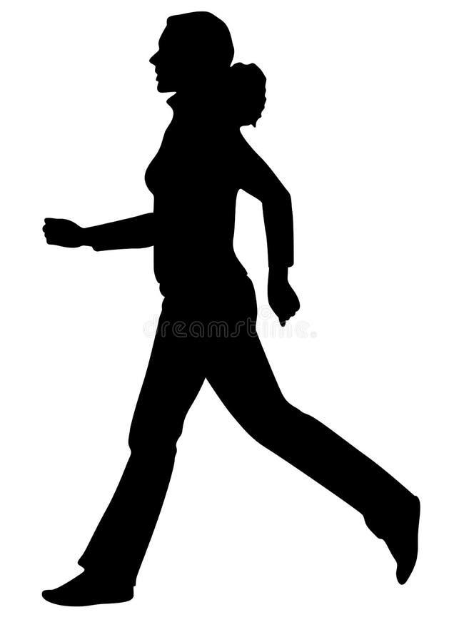 τρέχοντας σκιαγραφία κο&rho διανυσματική απεικόνιση