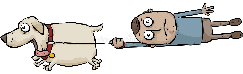 Τρέχοντας σκυλί απεικόνιση αποθεμάτων