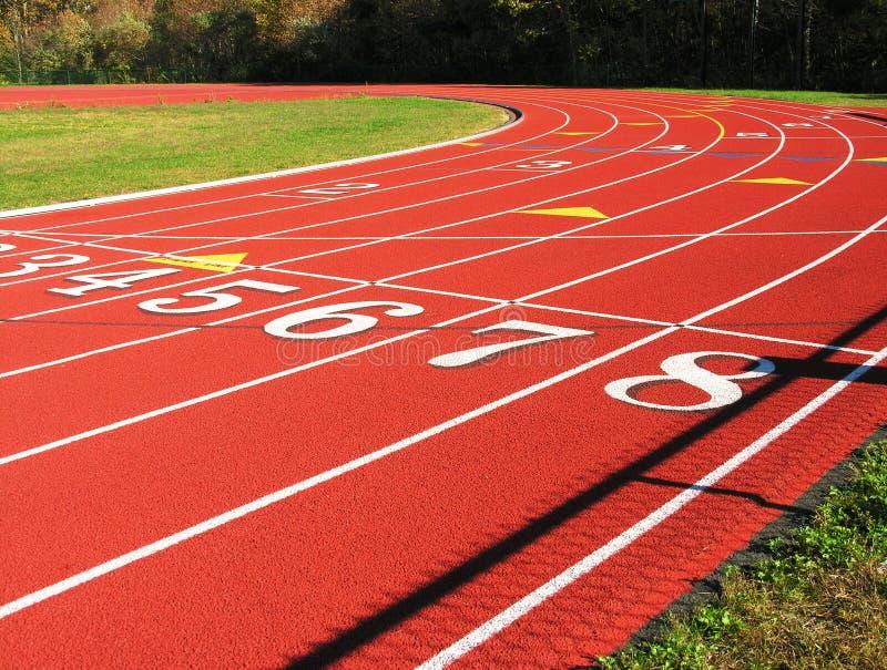 τρέχοντας στροφή διαδρομή στοκ εικόνα