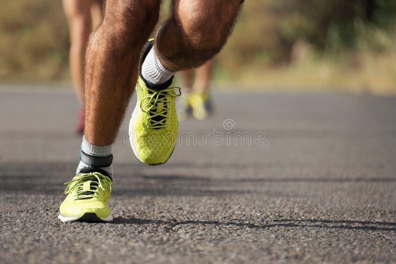 Τρέχοντας φυλή μαραθωνίου στοκ εικόνες