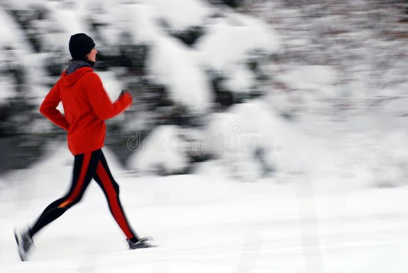 τρέχοντας χειμώνας στοκ εικόνες με δικαίωμα ελεύθερης χρήσης