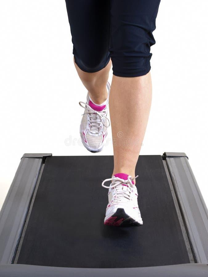 τρέχοντας treadmill στοκ φωτογραφία με δικαίωμα ελεύθερης χρήσης