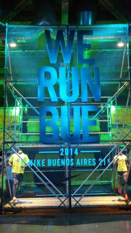 Τρέχουμε το Μπουένος Άιρες το 2014 στοκ φωτογραφία
