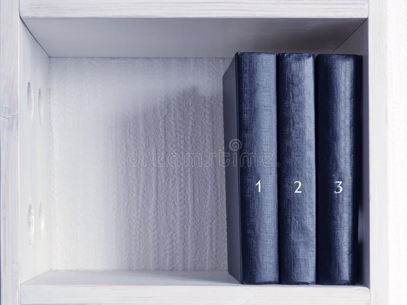 Τρία βιβλία στοκ εικόνα