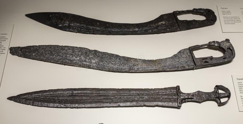 Τρία ιβηρικά αρχαία ξίφη στοκ εικόνα