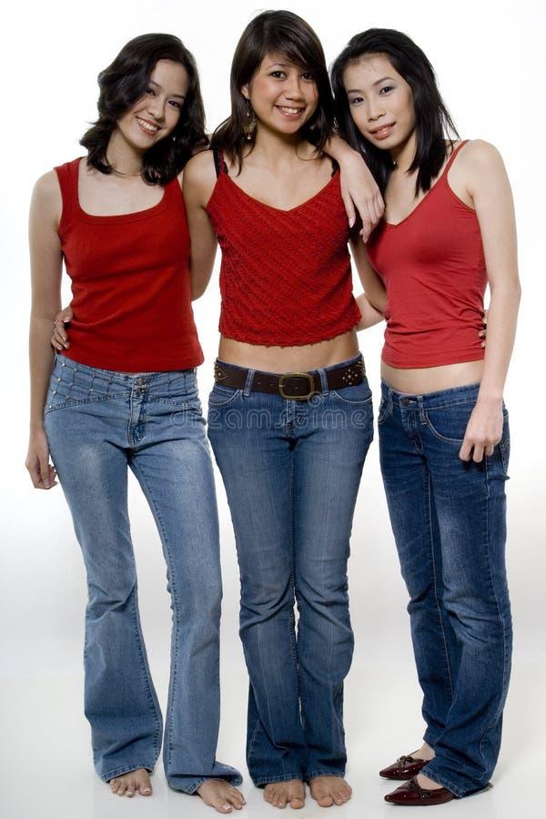 Τρία κορίτσια στοκ φωτογραφία με δικαίωμα ελεύθερης χρήσης