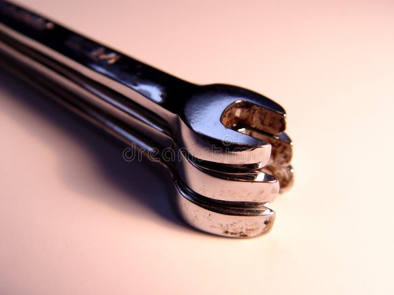 τρία μαζί γαλλικά κλειδιά στοκ φωτογραφία
