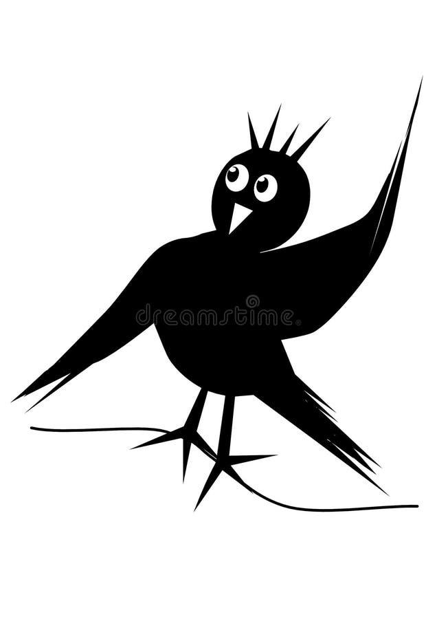 Τρία μαύρα πουλιά στοκ εικόνες με δικαίωμα ελεύθερης χρήσης