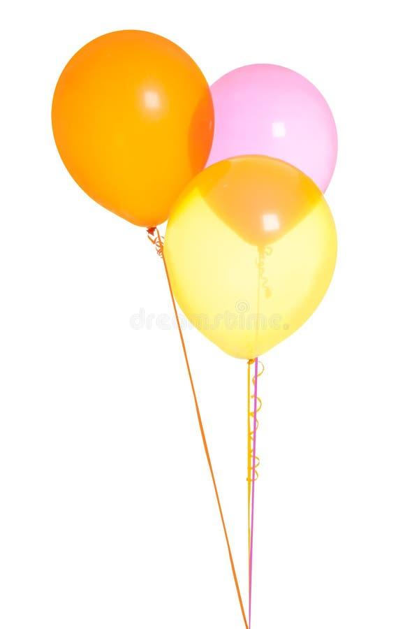 Τρία μπαλόνια από κοινού στοκ εικόνες