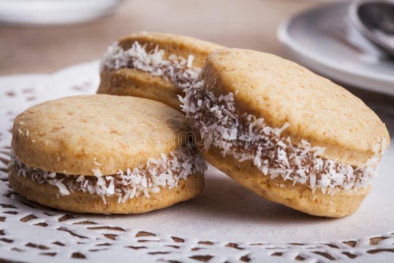 Τρία μπισκότα στοκ εικόνες