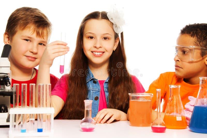 Ομάδα κατηγορίας χημείας στοκ φωτογραφίες