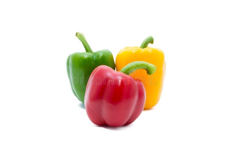 Τρία πιπέρια χρώματος στοκ εικόνα