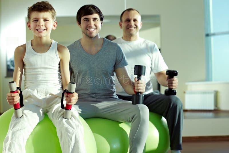 Τρία υγιή άτομα στοκ εικόνα με δικαίωμα ελεύθερης χρήσης