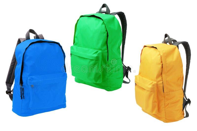 Τρία Backpacks στοκ φωτογραφία με δικαίωμα ελεύθερης χρήσης
