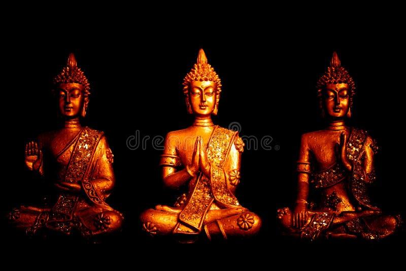 Τρία satues του Βούδα στοκ φωτογραφίες με δικαίωμα ελεύθερης χρήσης