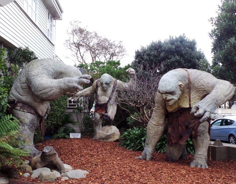 Τρία Trolls του Hobbit, σπηλιά Weta, Νέα Ζηλανδία στοκ εικόνες