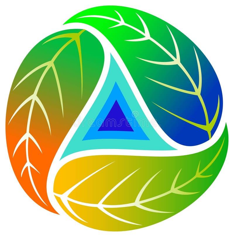 τρίγωνο φύλλων διανυσματική απεικόνιση