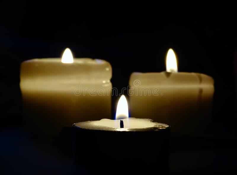 Τρίο κεριών στοκ εικόνες