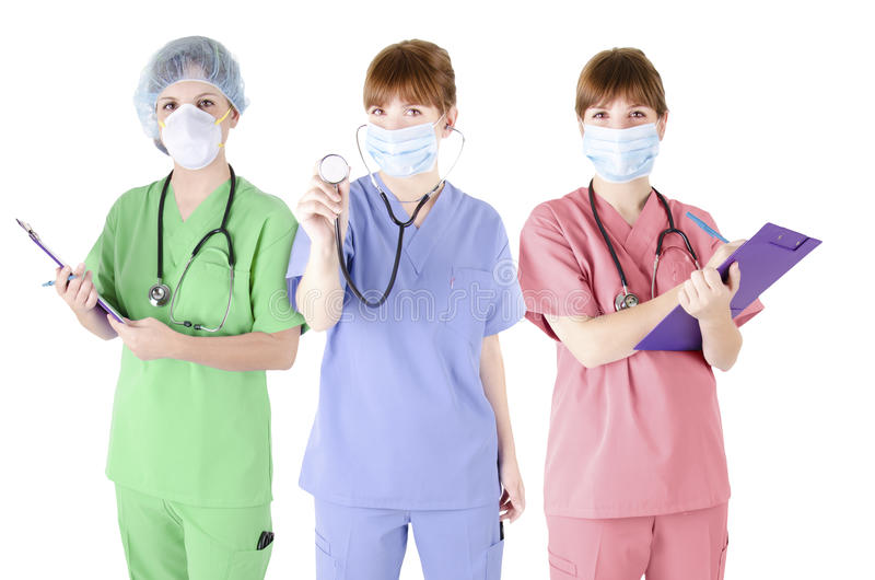 Τρίο του ειδικού υγειονομικής περίθαλψης στοκ εικόνες