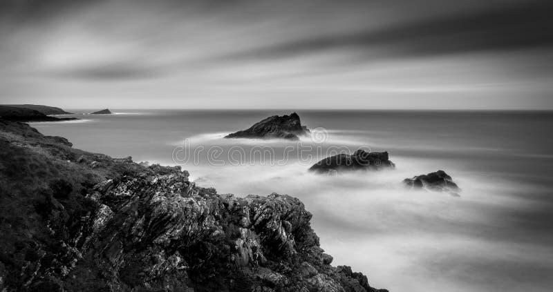 Τρίο των βράχων, σημείο Pentire, Κορνουάλλη στοκ εικόνες με δικαίωμα ελεύθερης χρήσης
