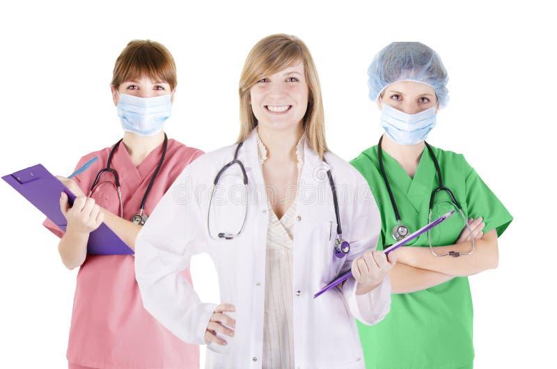 Τρίο των γιατρών στοκ εικόνες με δικαίωμα ελεύθερης χρήσης
