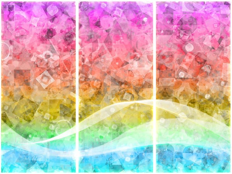 τρίπτυχο δυαδικών ψηφίων ελεύθερη απεικόνιση δικαιώματος