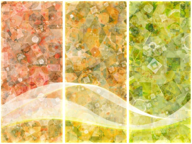 τρίπτυχο δυαδικών ψηφίων απεικόνιση αποθεμάτων
