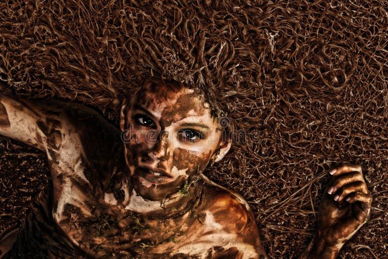 τρίχωμα που μπλέκεται βρώμ&iot στοκ φωτογραφίες