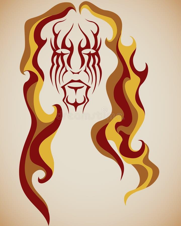 τρίχωμα πυρκαγιάς Στοκ Εικόνες