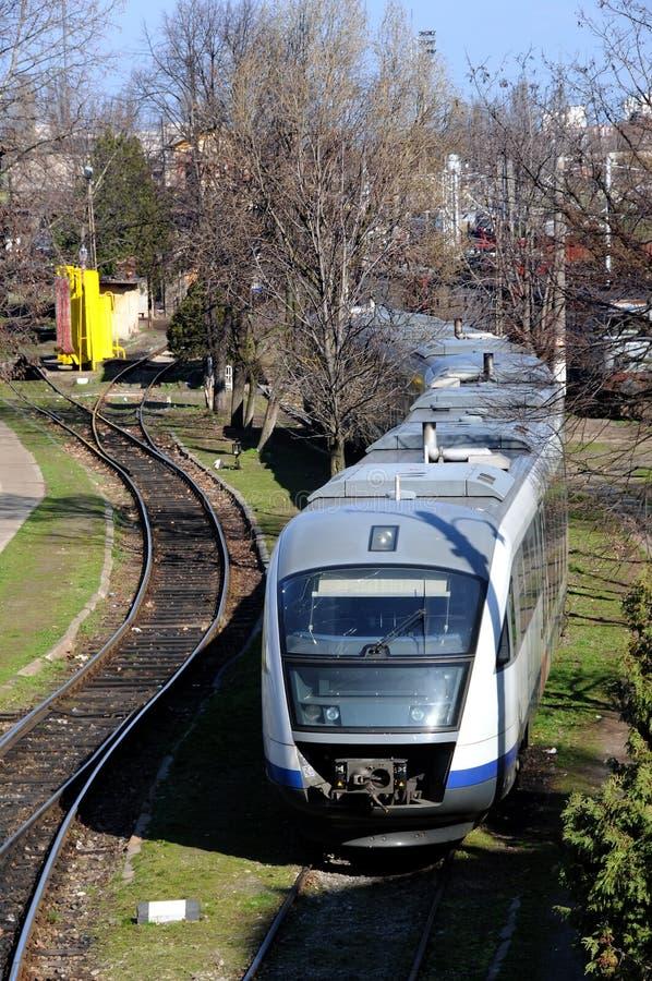 τραίνο άφιξης στοκ εικόνα