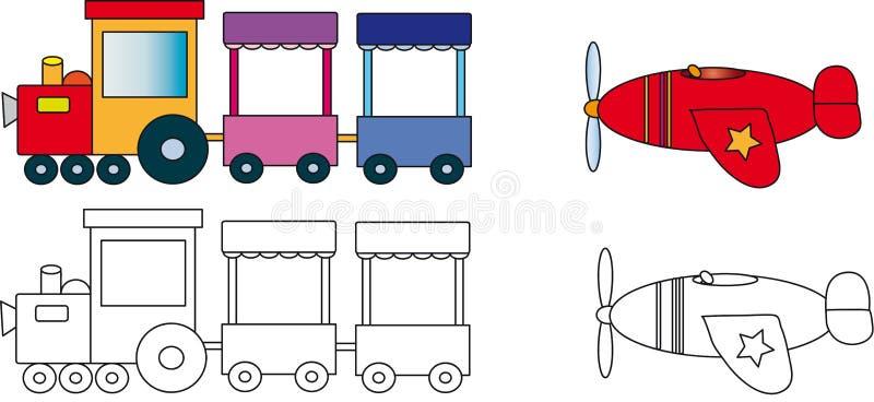 τραίνο αεροπλάνων απεικόνιση αποθεμάτων