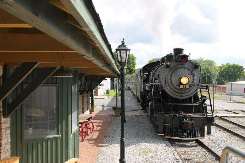 Τραίνο ατμού από το Σατανούγκα, TN σε Summerville, GA στοκ φωτογραφίες