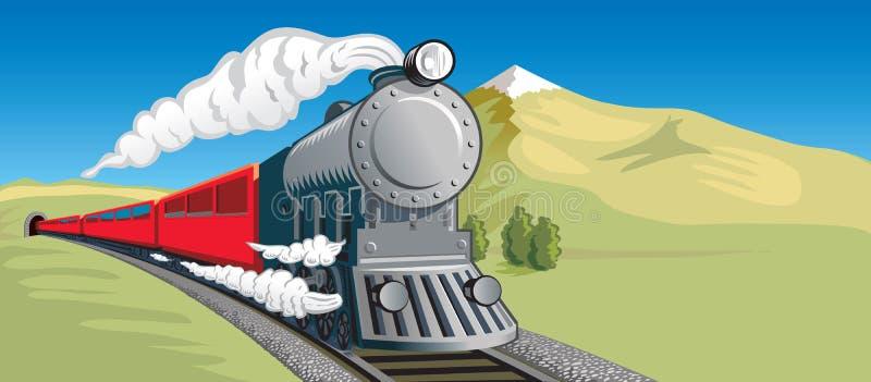 Τραίνο ατμού διανυσματική απεικόνιση