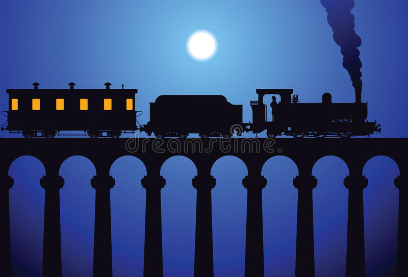 τραίνο γεφυρών διανυσματική απεικόνιση