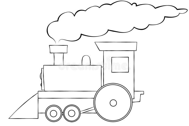 τραίνο γραμμών κινούμενων σ&c απεικόνιση αποθεμάτων